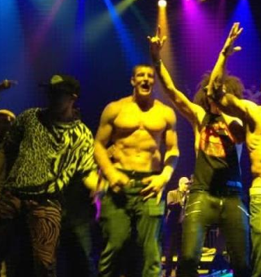 Yes, that's Gronk with LMFAO. I told you so.